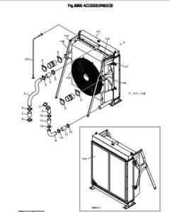 Радиатор дизельного двигателя Doosan DP158LD и DP158LC