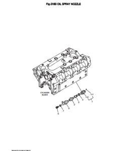 Фланец в сборе дизельного двигателя Doosan DP158LD и DP158LC