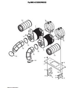 Кронштейн воздушного фильтра дизельного двигателя Doosan DP158LD и DP158LC