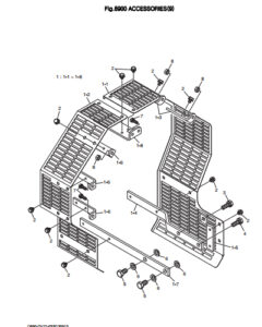 Защитная решетка крыльчатки дизельного двигателя Doosan DP158LD и DP158LC