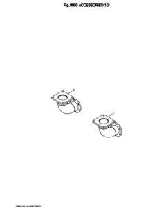 Колено дизельного двигателя Doosan DP158LD и DP158LC