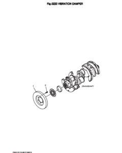 Демпфер дизельного двигателя Doosan DP158LD и DP158LC